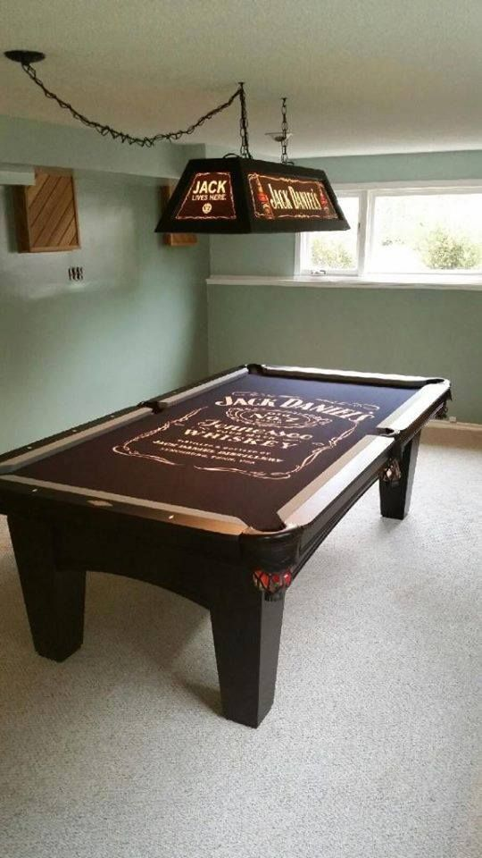 The Jack Daniels Pool Table Now Has A Jack Daniels Light To Match - Jack daniels pool table