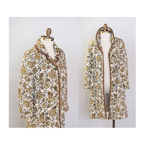 Classic Floral Tapestry Coat 1960s Vintage // by waywardcollection