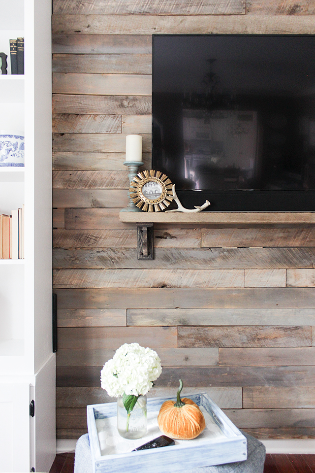 How To Build A Pallet Accent Wall Idee Meuble Tv Meuble Tv Palette Tv Palette