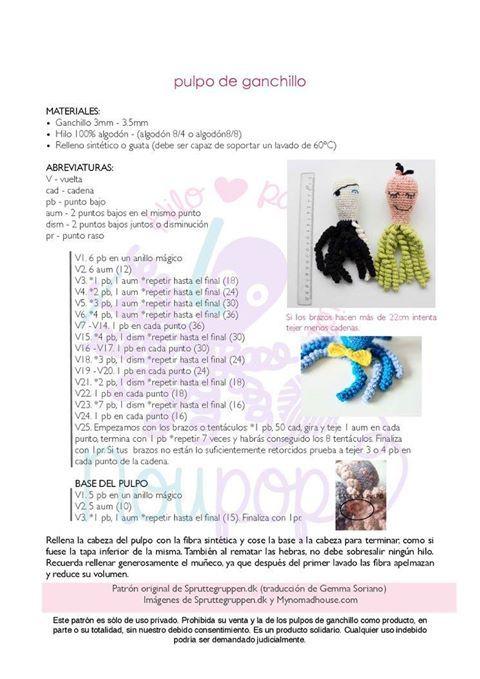 amigurumis y más – patrones gratis amigurumis y más | Patrones ...