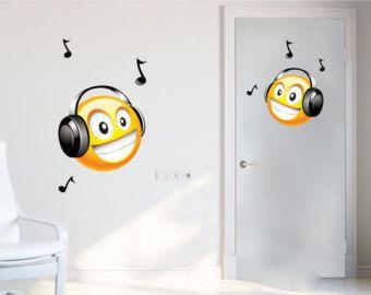 Smiley Decals Emoji Decals Laptop Cover Decal Headphones Wall