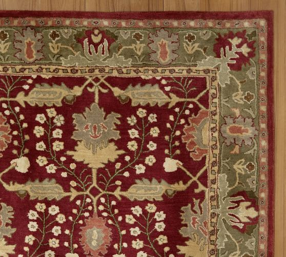 franklin persian-style rug | pottery barn | lafontaine residence