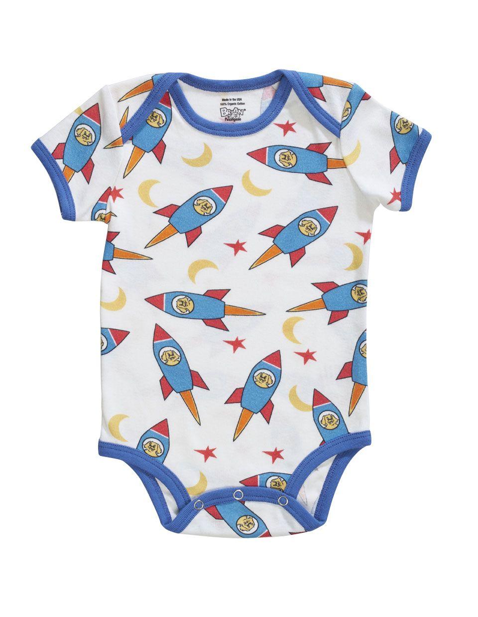 1d9ee6c6e Rocket Print Onesie - Organic Baby Pajamas