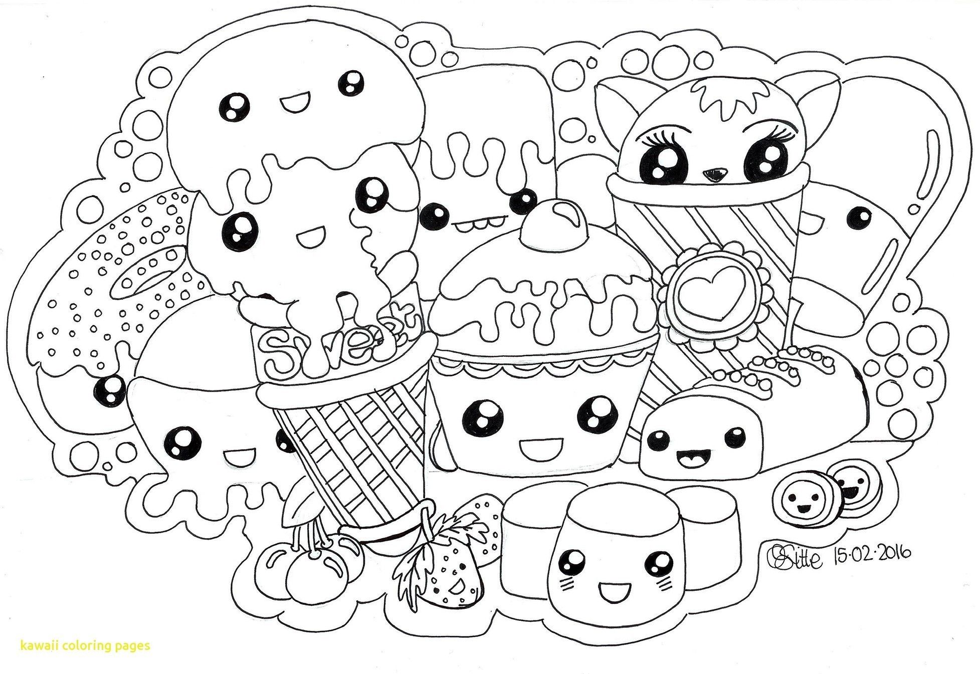Collection of Free kawaii coloring pages Download them