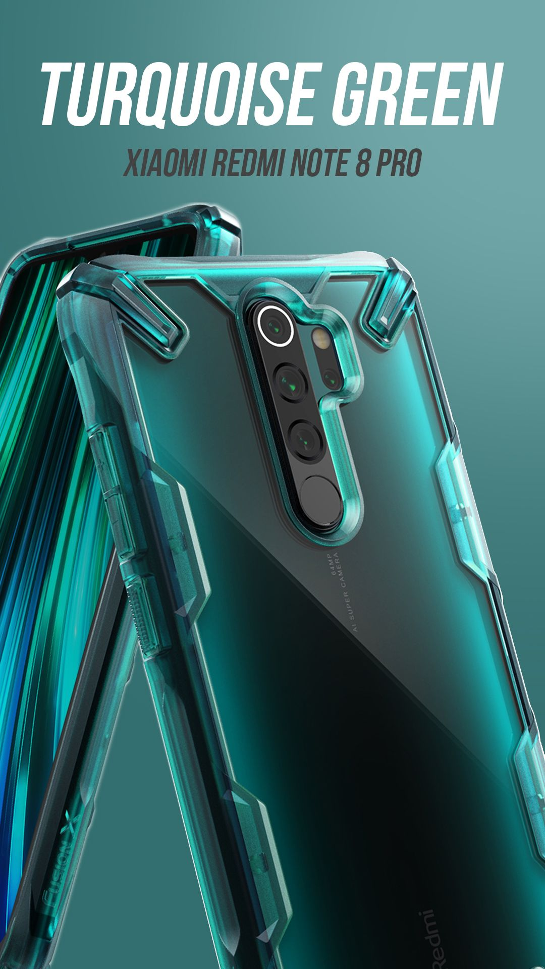 Xiaomi Redmi Note 8 Pro Fusion X Turquoise Xiaomi Design Case Note 8