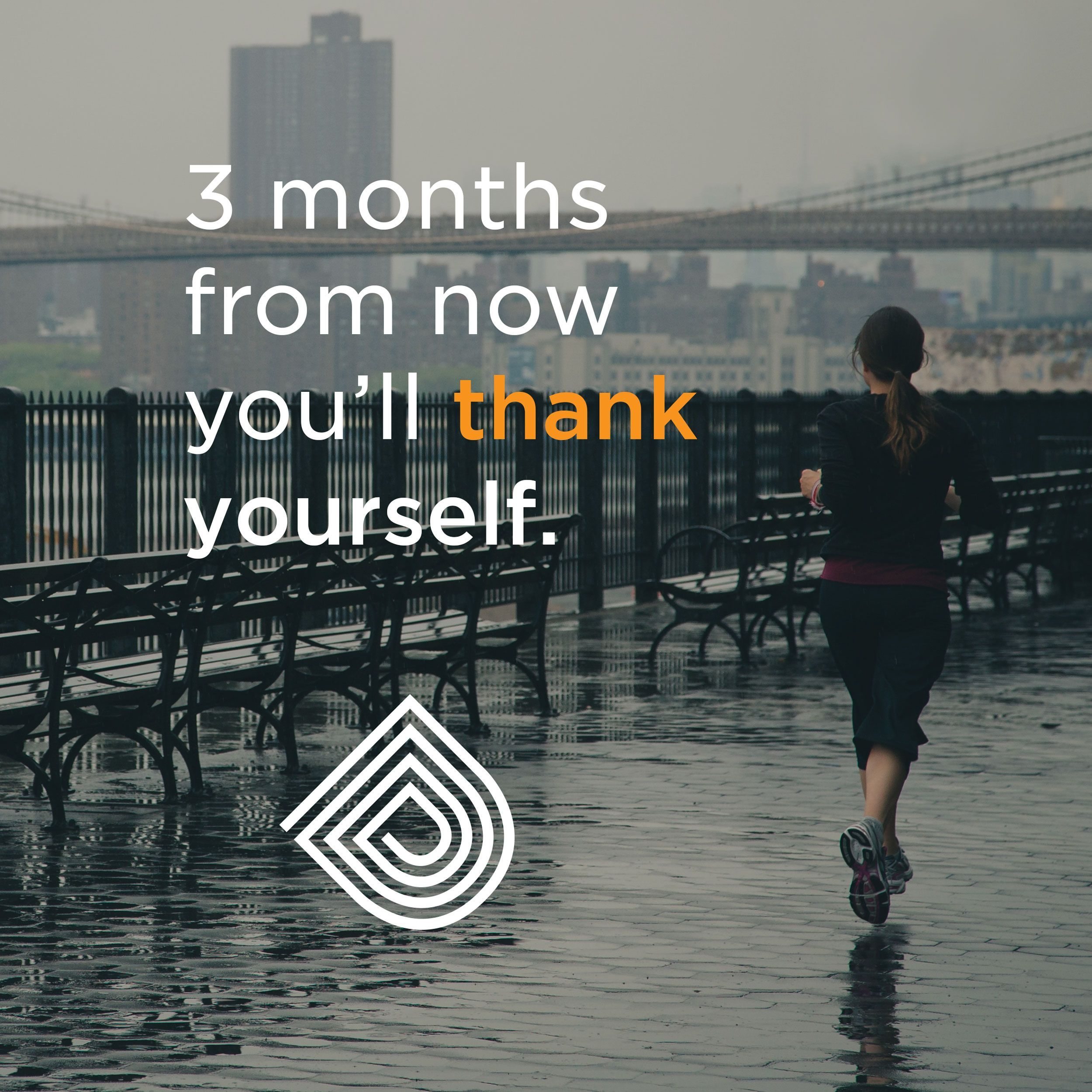 Fitness Quote 3 Months From Now Youll Thank Yourself
