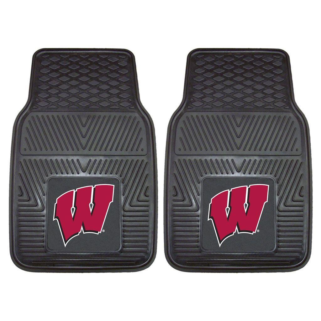 Heavy Duty Vinyl Wisconsin Badgers Floor Mats