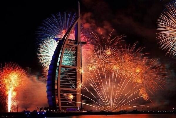 Stunning photo from the dubai new year fireworks