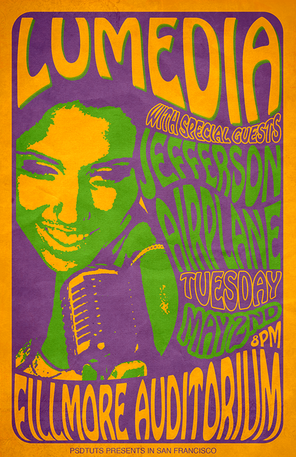 Create A 60 S Psychedelic Style Concert Poster Psdtuts Psychedelic Typography Concert Poster Art Poster Design Tutorials
