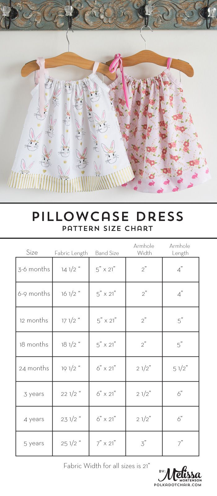 Learn how to sew a pillow case dress with this Pillowcase Dress Tutorial. Includes full