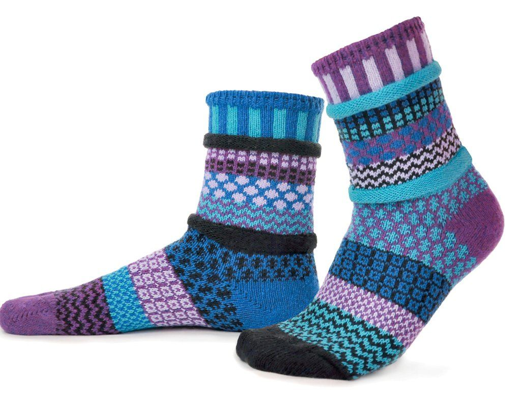 Mismatched Baby socks for girls or boys Two pairs with a spare Solmate Socks