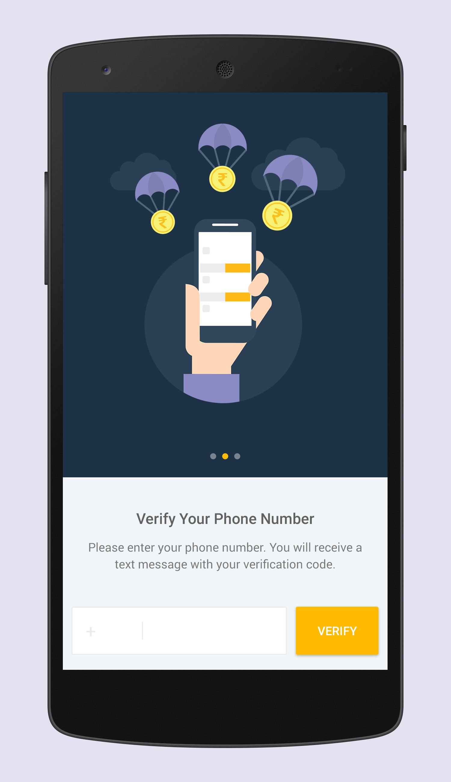 Verify Screen App Design Android Design Mobile App Design