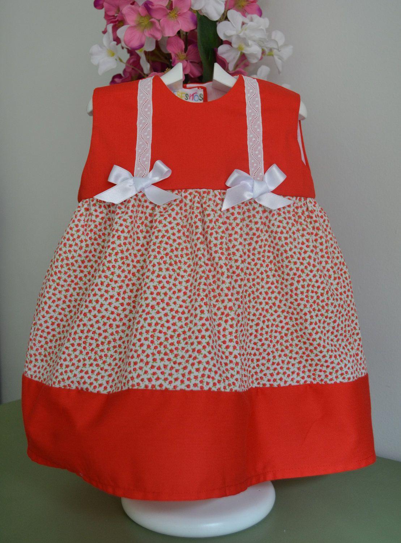 bee8944847f37 Vestido de niña en pique rojo