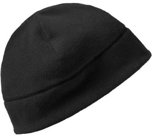 Solid Polar Fleece Winter Cold Weather Beanie Watch Cap Hat, Color Black, Army Universe