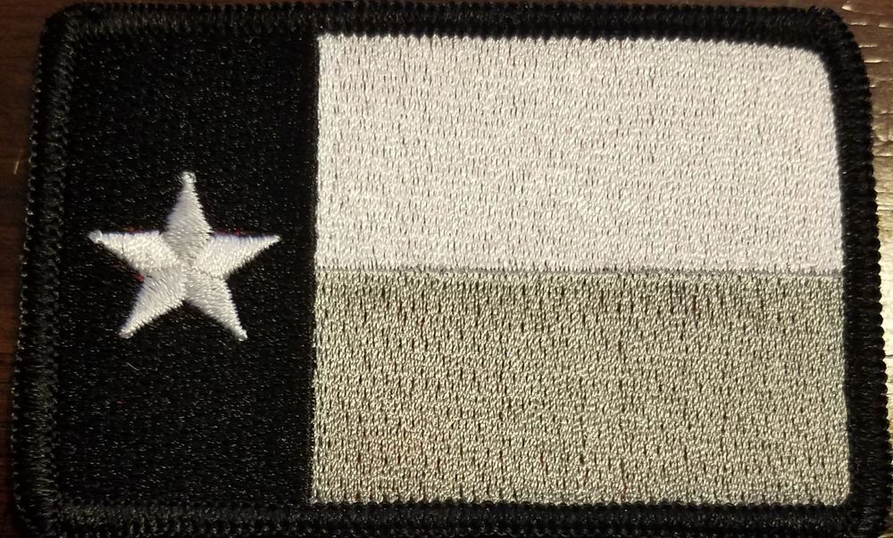 Texas State Flag Iron On Patch Morale Tactical Travel Emblem Black Border 12 Iron On Patches State Flags Texas State Flag