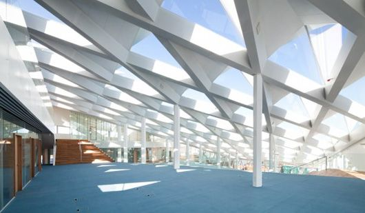 Triangle Design Structure Middelfart Savings Bank Interior