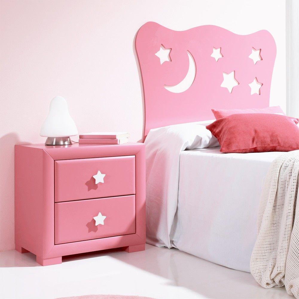 cabecero cama infantil estrella rosa claro