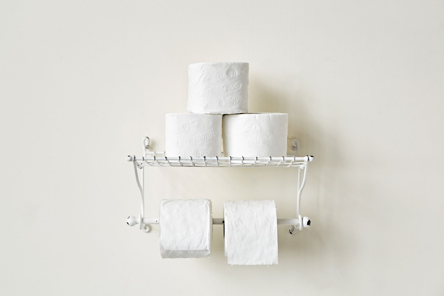 Metal Paper Toweltoilet Paper Holder With Shelf Wall Decor Antique