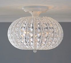 Ruby flushmount kids chandelier bedroom chandeliers and chandeliers clear acrylic round flushmount chandelier aloadofball Image collections