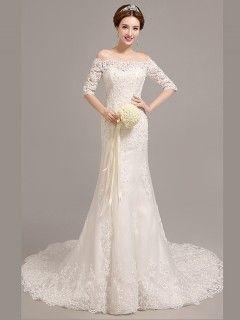 Robe longue blanche mariee