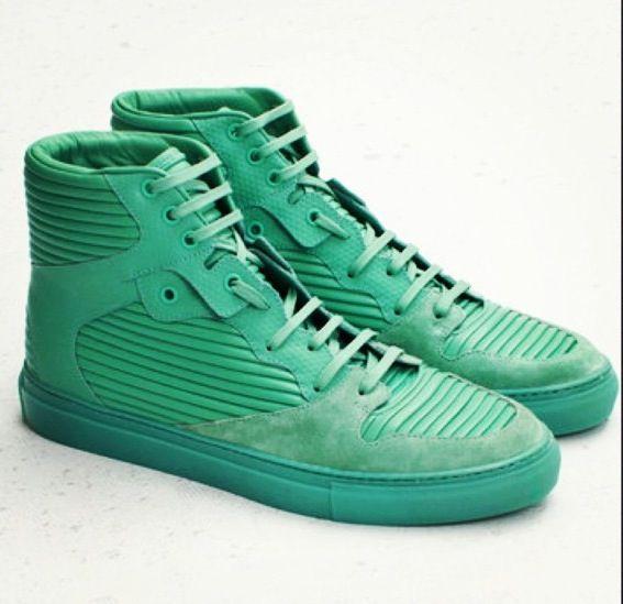 Balenciaga Mint Pleated Sneaker