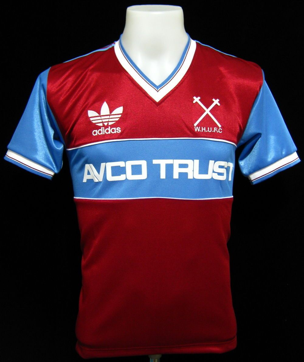 West ham United 1983 home retro football shirt size L 42-44   e74374cae