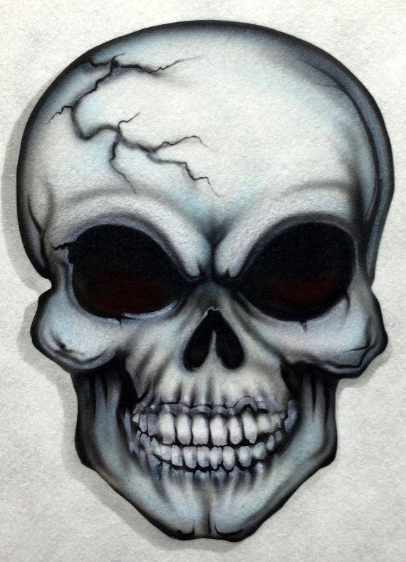 Skull 12 airbrush stencil by joannakrzepkowska on Etsy