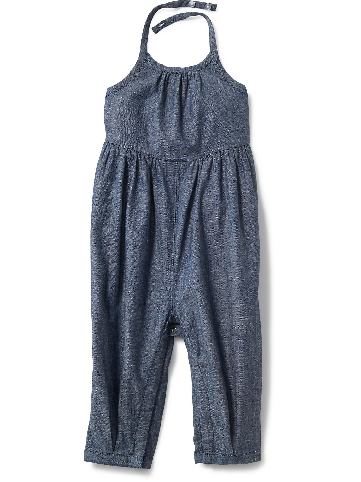 Chambray Halter Top Romper for Baby Old Navy