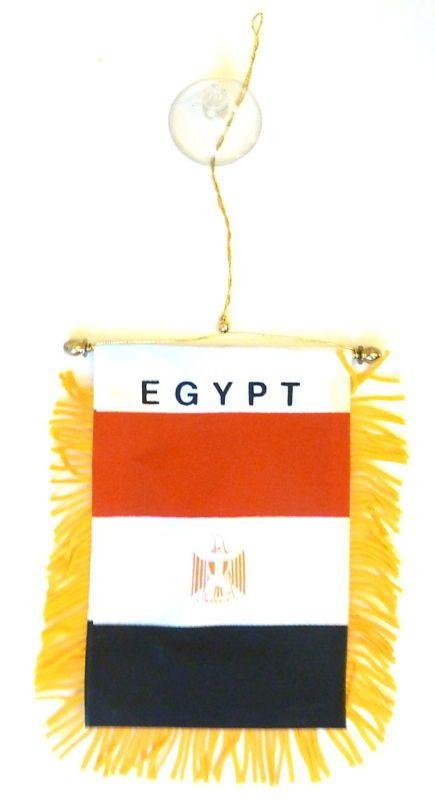 "Wholesale lot 12 Egypt Mini Flag 4/""x6/"" Window Banner w// suction cup"