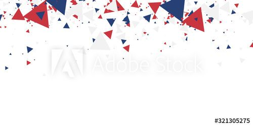White background with red blue america color geometric triangle. Abstract background vector illustration with copy space. , #Sponsored, #blue, #america, #color, #White, #background #Ad