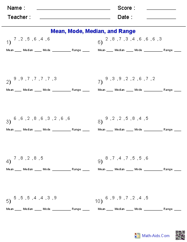 math-aids.com - variety of custom worksheets generated | H-school ...