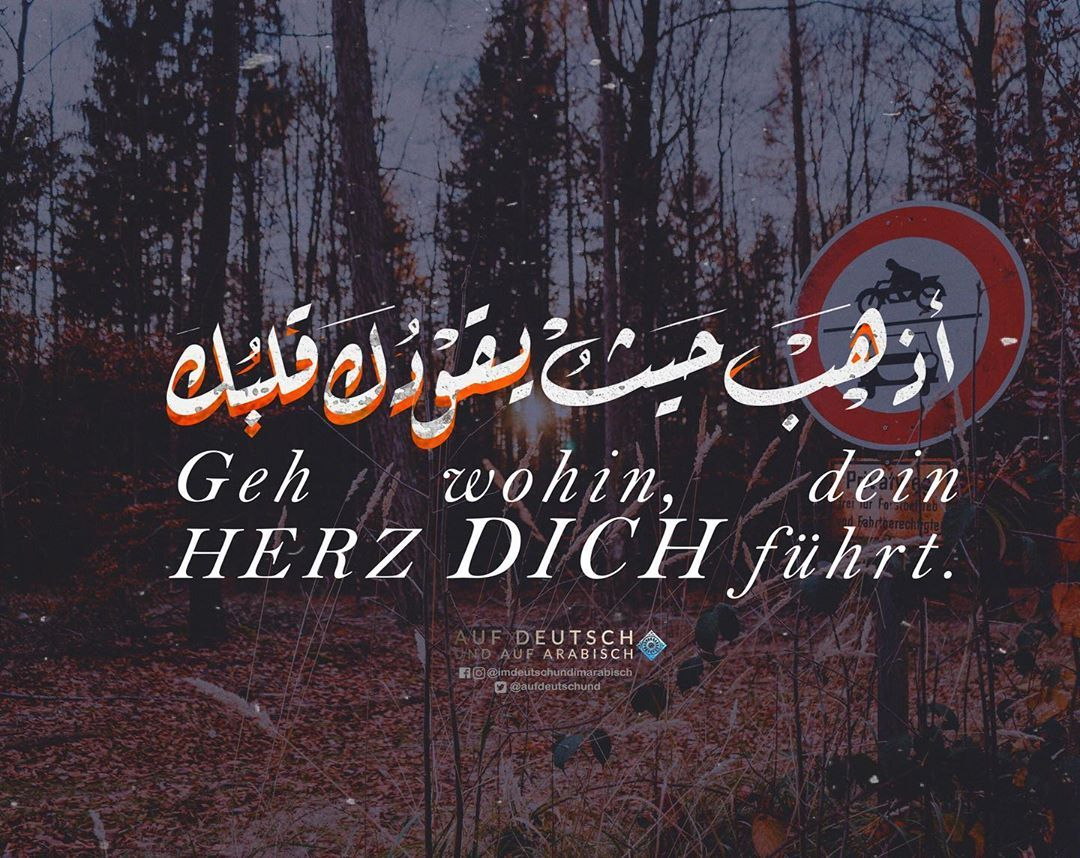 Auf deutsch sprüche arabische wie kann