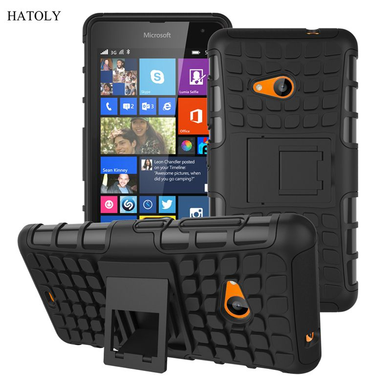 대한 nokia lumia 535 case 1090 1089 헤비 듀티 갑옷 충격 방지 하이브리드 하드 실리콘 견고한 고무 전화 커버 nokia 535 * <
