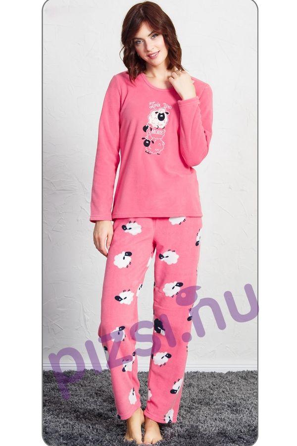 Női hosszúnadrágos pizsama - Polár női pizsama - Pizsama webáruház -  Felnőtt és gyermek pizsamák széles 9242c87333