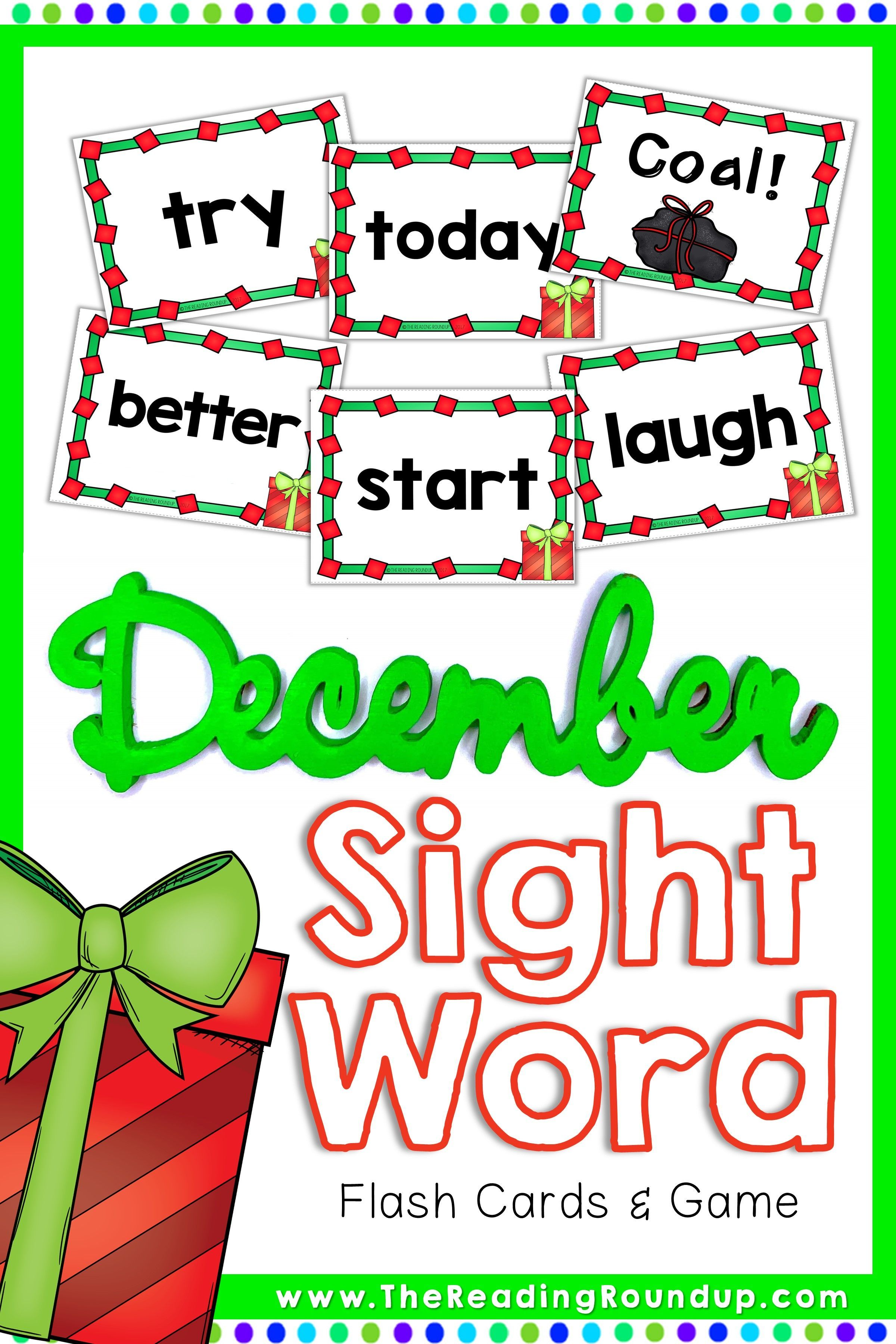 Christmas Sight Word Game & Flash Cards December