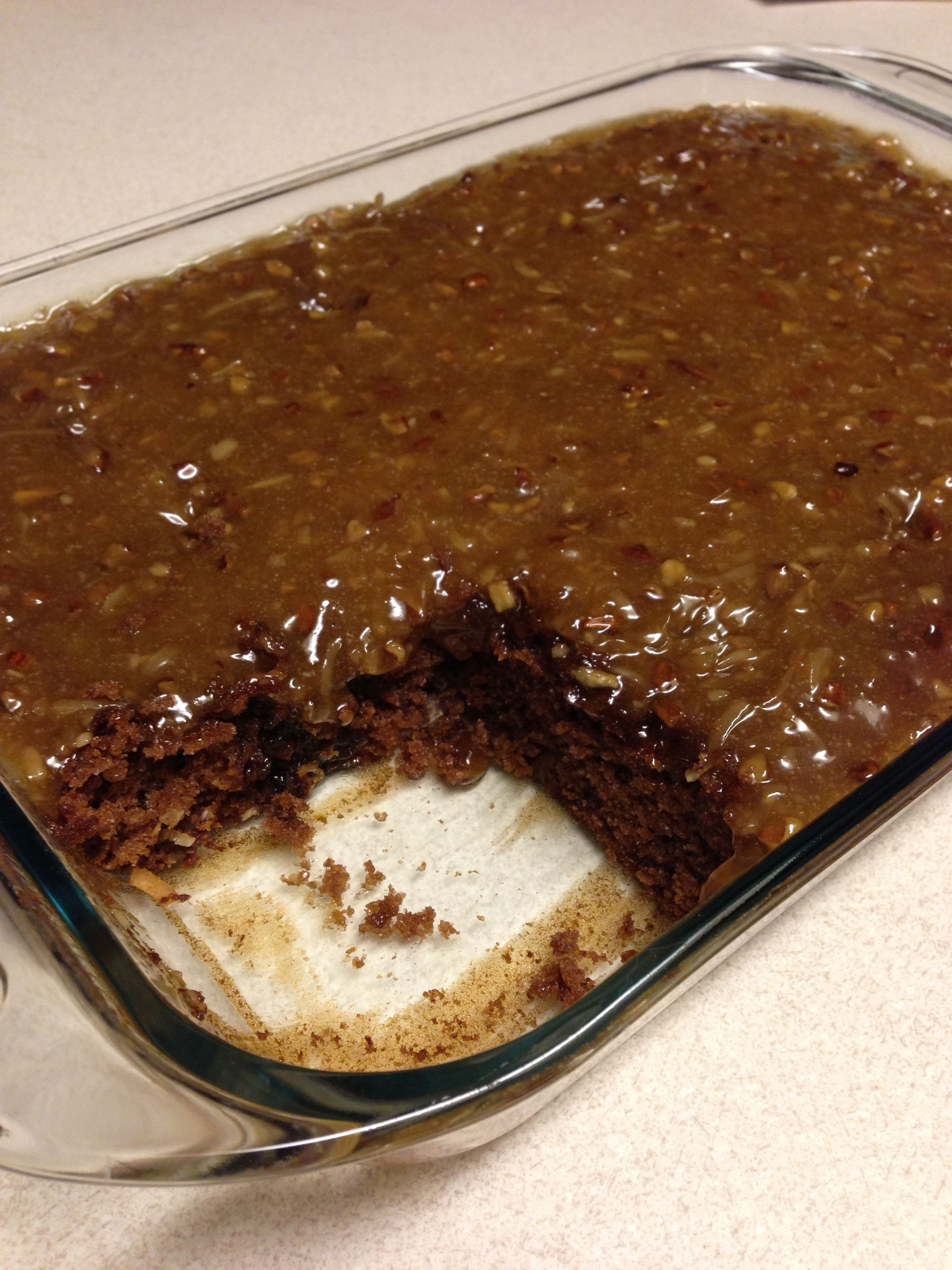 German Chocolate Cake Mix Together Duncan Hines Products 1 Box