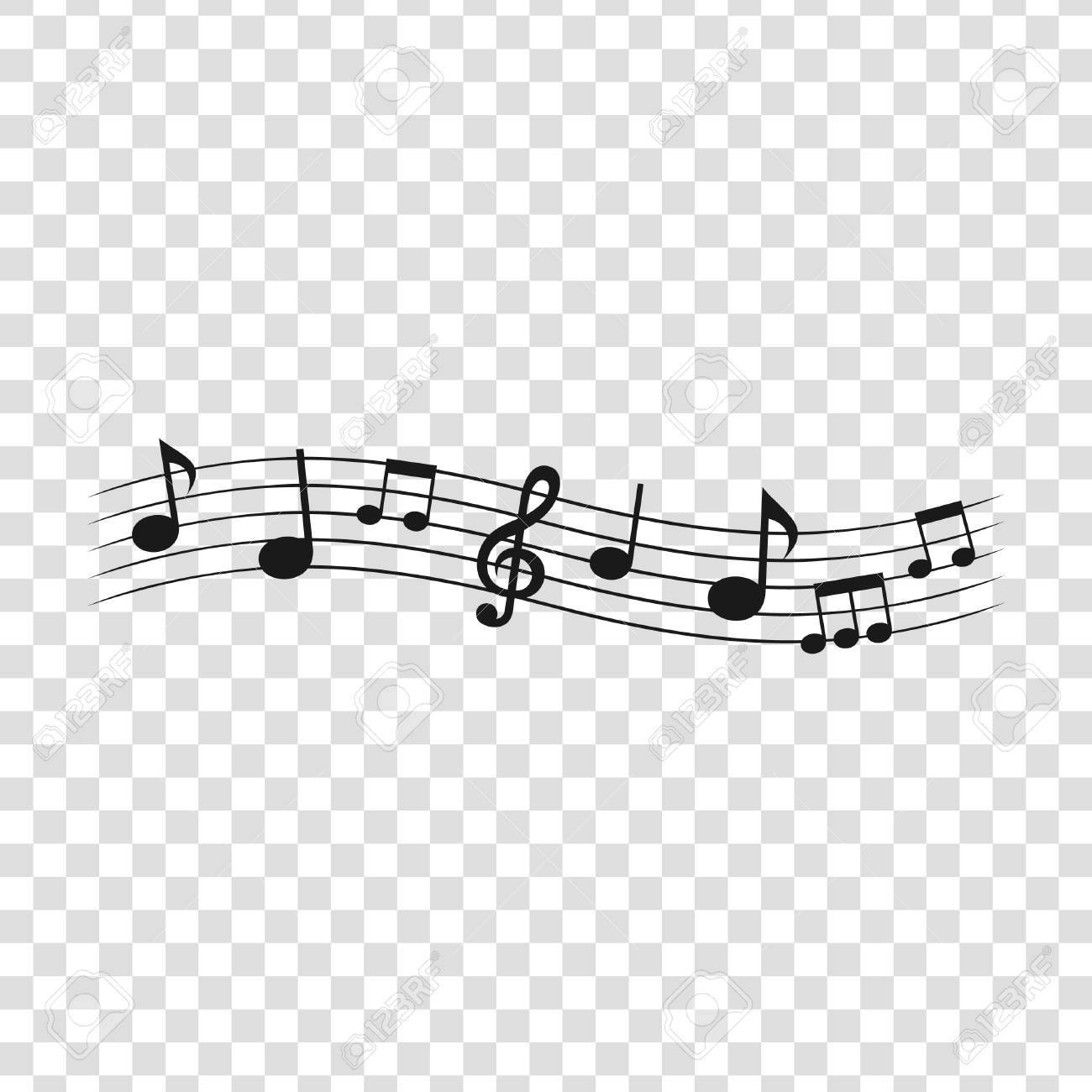 Musical Notes On A Transparent Background Vector Illustration Ad Transparent Notes Musical Illustration Notes Vector Illustration Art Inspiration