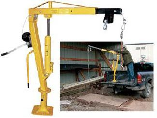 Installed In Your Pick Up Truck Bed This Winch Operated Jib Crane Will Help Lift Loads To 1 000 Pounds Items From Ground Height