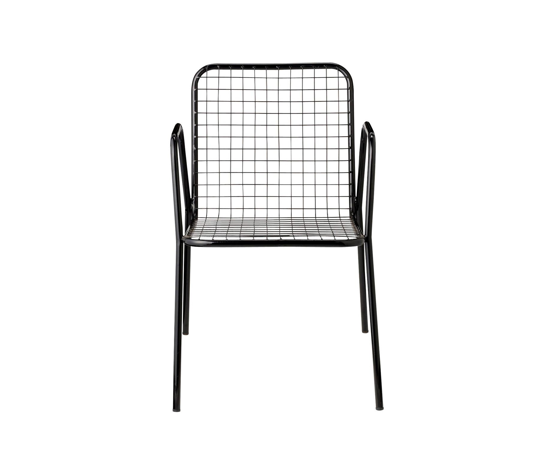 Aluminum chair in black or white | Basiclabel Bloomingville