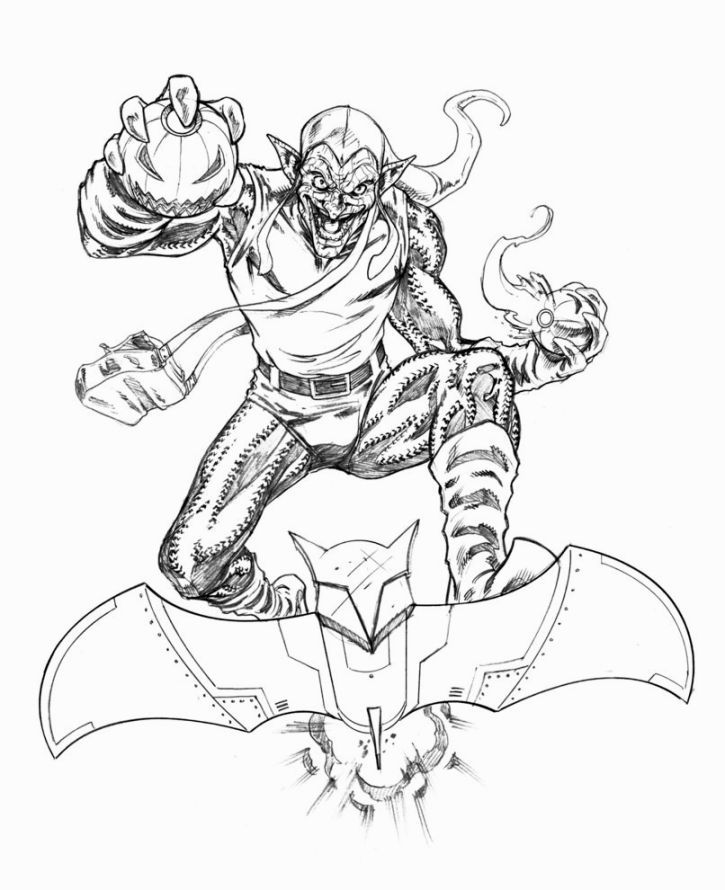 Green Goblin Coloring Pages | Coloring Pages | Pinterest | Colouring ...