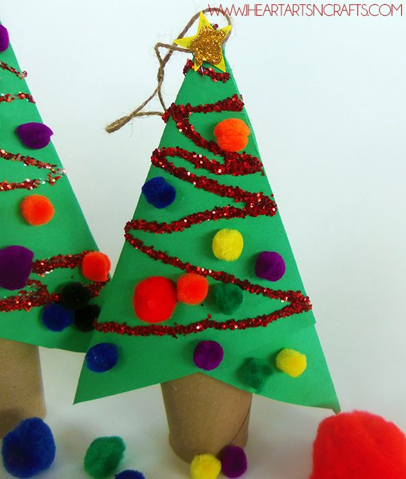 Art And Craft Ideas For Christmas Part - 27: DIY Cardboard Tube Christmas Ornament Kids Craft