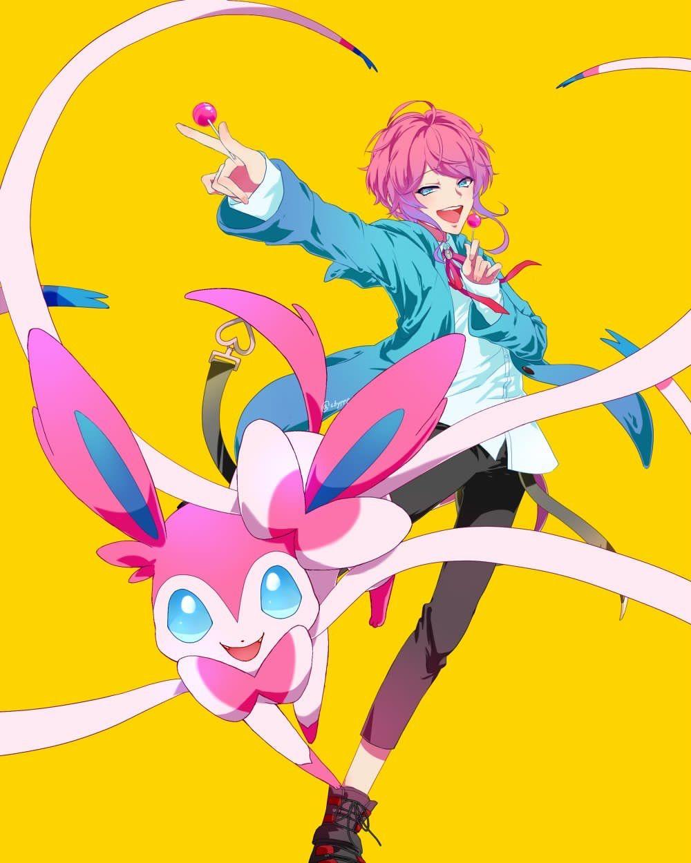 飴村乱数 Ramuda With Pokémon Ramuda In 2019 ヒプマイ イラスト