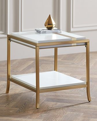 Side Stripe End Table by Cynthia Rowley for Hooker Furniture at Horchow.