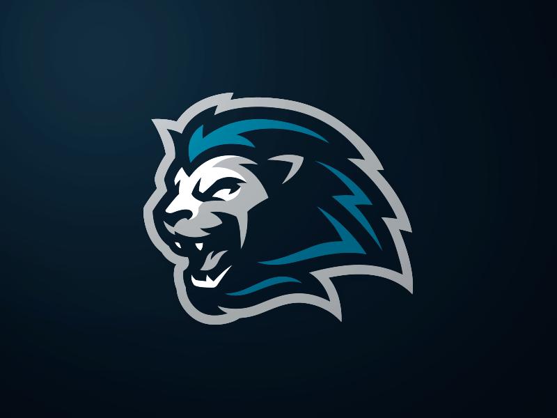 Lion Mascot Logo Logo Keren Binatang Desain Logo