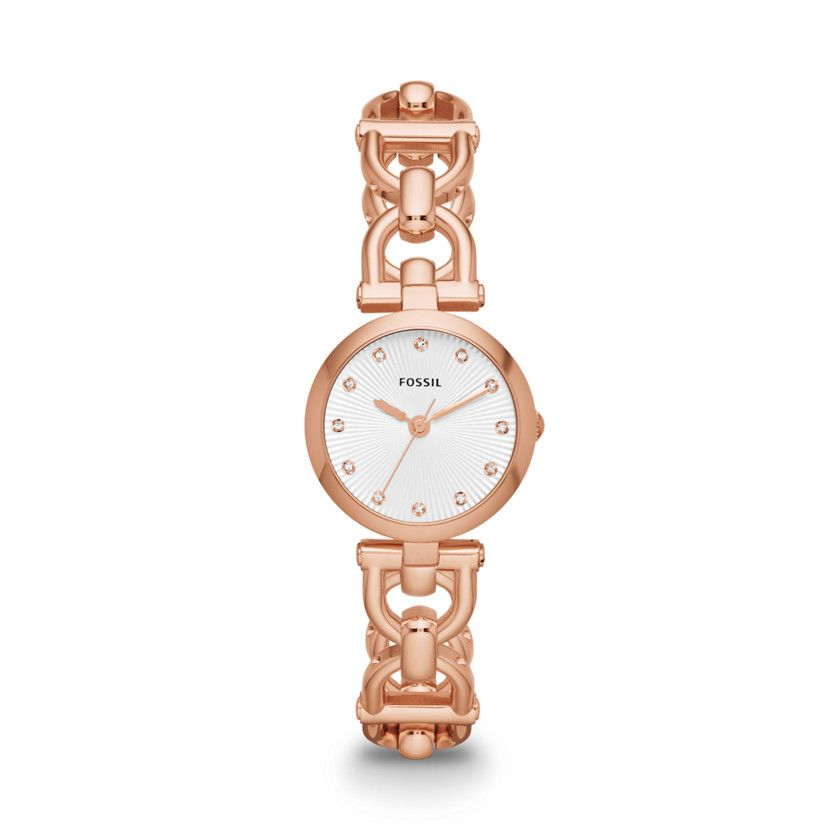 Olive Three Hand Stainless Steel Watch - Rose ES3350 | FOSSIL®