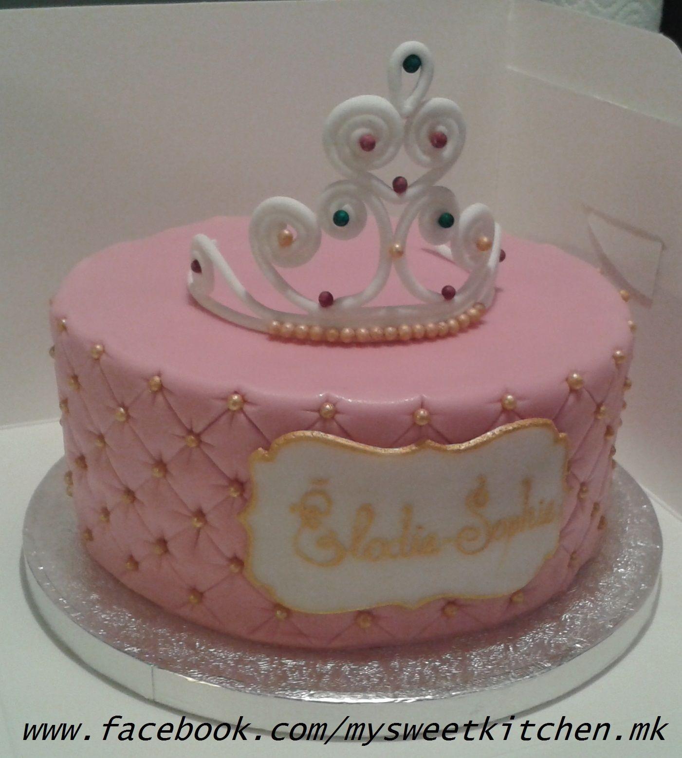 babytorte prinzessinnentorte mit diadem tiara baby cake princess cake with tiara meine torten. Black Bedroom Furniture Sets. Home Design Ideas