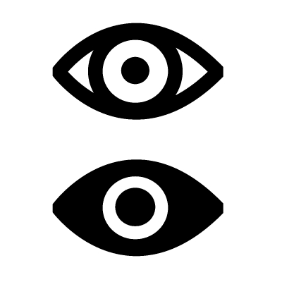Simple Eye Icon Sign Design Free Vectors Icon0 Com Free Images For Personal Commercial And Noncommercial Use Attribution Is Not Required