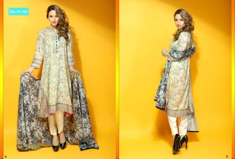 Latest Hadiqa Kiani Fabric World Lawn Dresses Collection 2015 For Girls