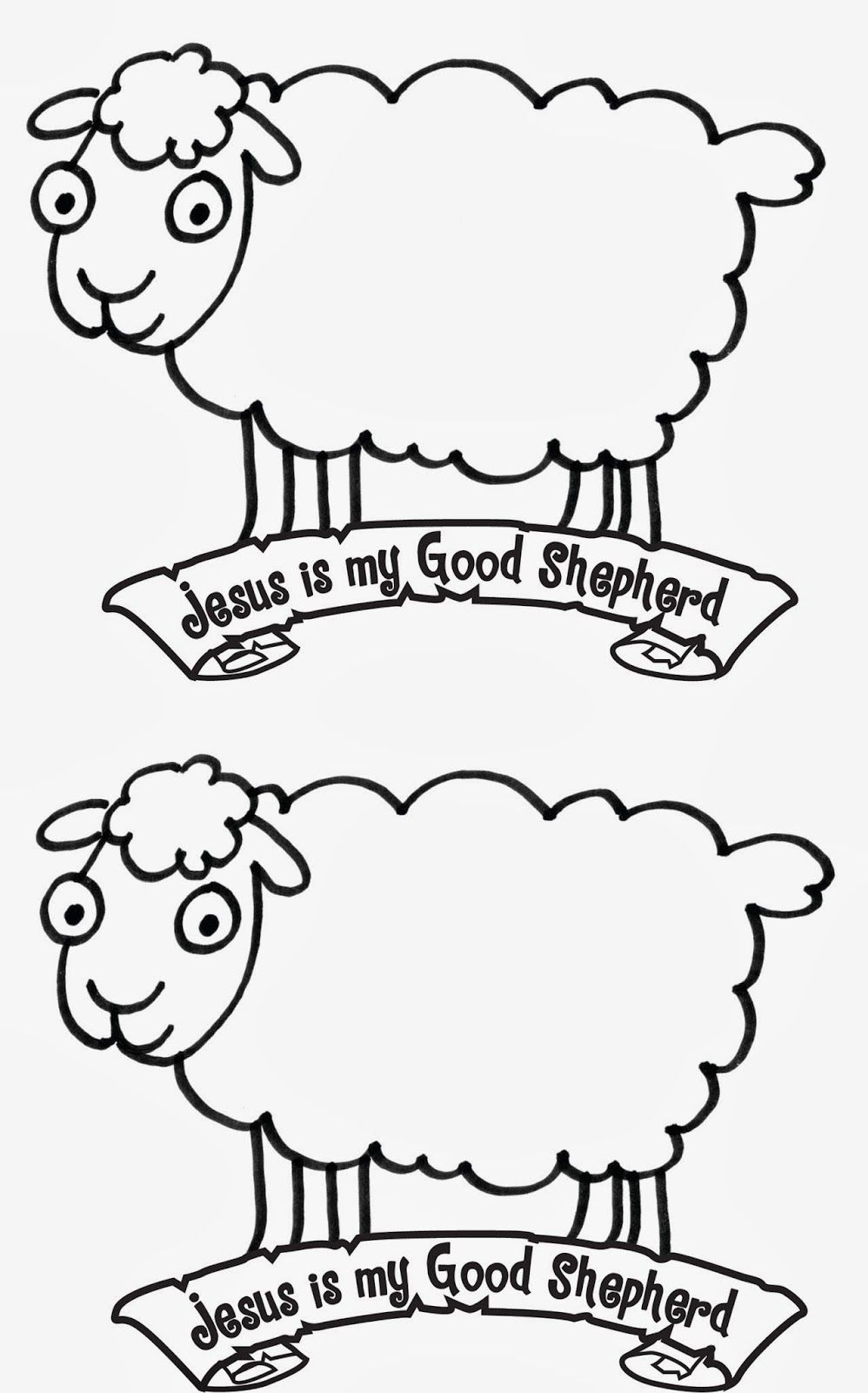 Jesus Is The Good Shepherd Sheep Bible School Crafts Sheep
