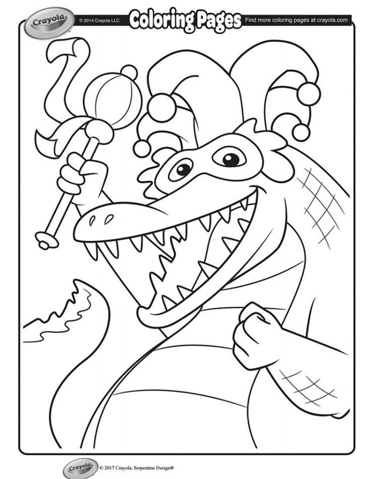 49 Free Mardi Gras Coloring Pages Mardi gras and Free - new alligator coloring pages to print
